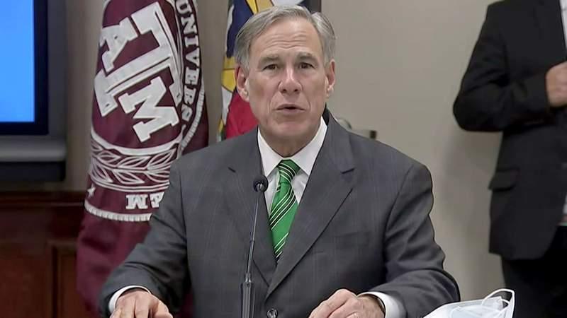 Texas Gov. Greg Abbott speaks during a news conference in Austin, Texas, on June 16, 2020.