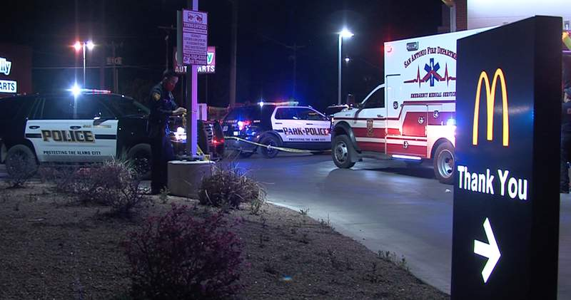 A man is hospitalized and in serious condition after he was found in a McDonald's drive-thru with gunshot wounds, according to San Antonio police.