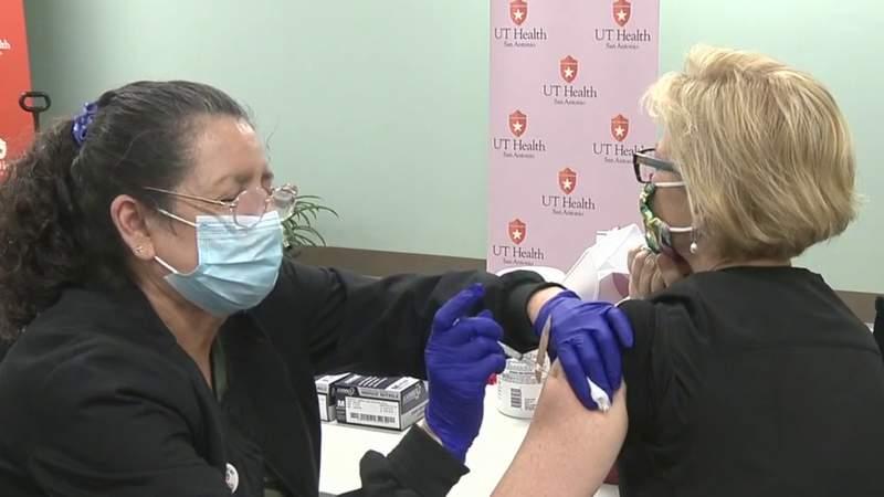 UT Health San Antonio administers COVID-19 vaccine to frontline healthcare workers