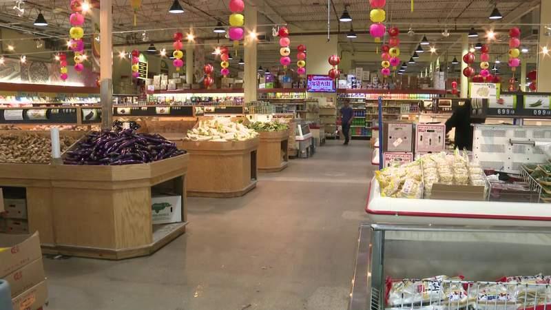 Chinatown supermarket impacted by coronavirus rumors in Houston.