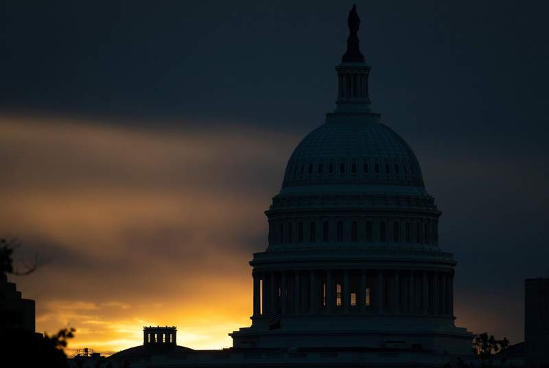 The U.S. Capitol at sunrise, in Washington, D.C., on May 4, 2021.