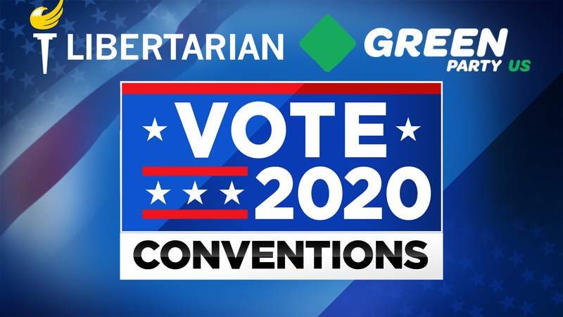 The Green Party and Libertarian Party nominate their candidates by convention rather than in a primary election.