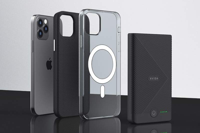 This multi-functional portable charger attaches magnetically to your phone and keeps it charged wirelessly.