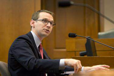 Texas Education Commissioner Mike Morath spoke to lawmakers and school superintendents in separate conference calls Sunday. (Marjorie Kamys Cotera for The Texas Tribune)