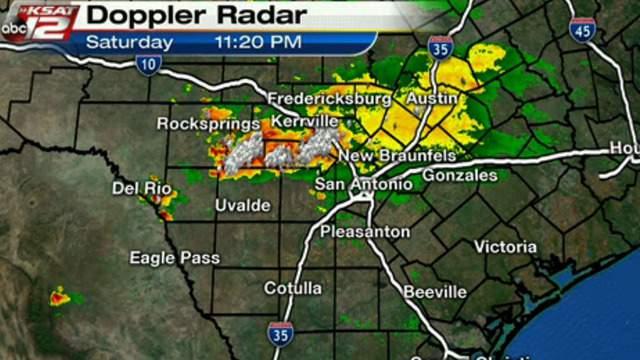 san antonio weather map radar Ksat Weather Strong Storms Impact San Antonio Hill Country san antonio weather map radar