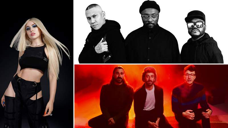 Ava Max, Black Eyed Peas and AJR are all set to perform for the KSAT 12 Fiesta Porch Parade.