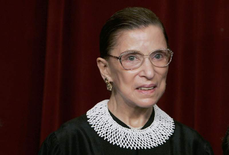 WASHINGTON - MARCH 03:  U.S. Supreme Court Justice Ruth Bader Ginsburg smiles during a photo session with photographers at the U.S. Supreme Court March 3, 2006 in Washington DC.  (Photo by Mark Wilson/Getty Images)