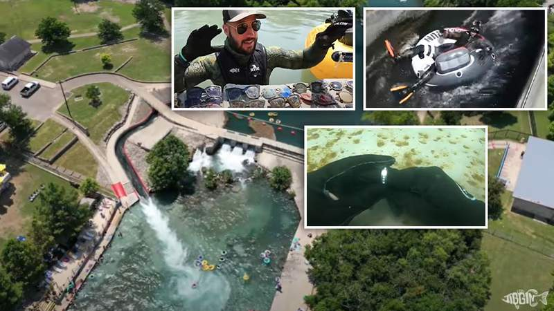 YouTube diver Brandon Jordan found lost treasures while diving in the Comal and San Marcos Rivers while on a recent trip to Texas.