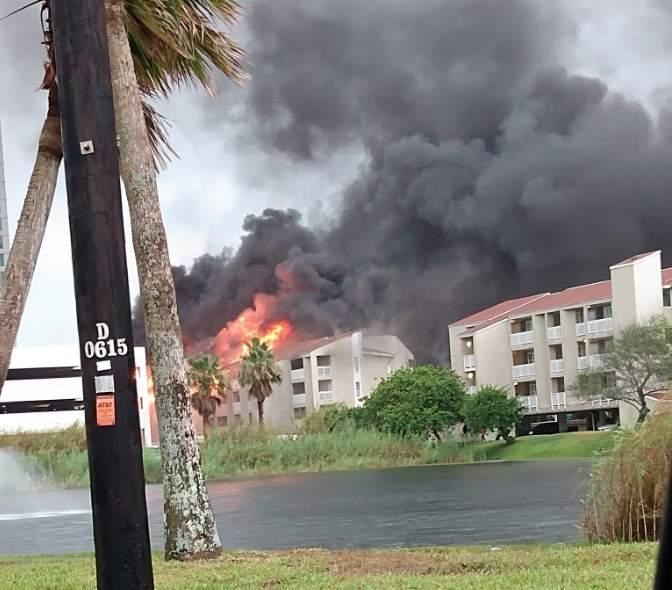 A massive fire broke out at a condominium complex in South Padre Island.