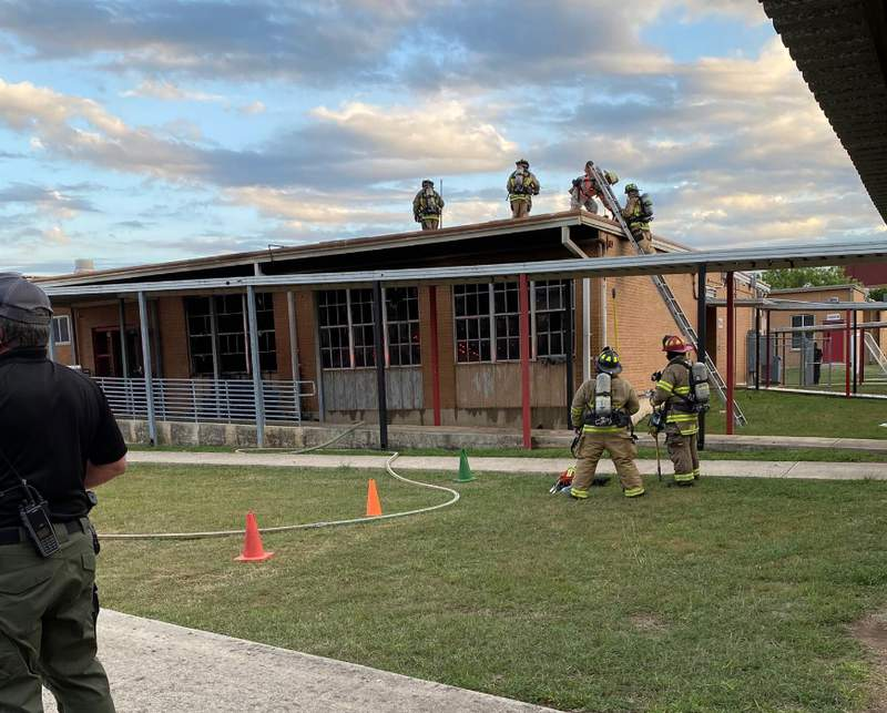Fire investigation underway at Pearce Elementary School.