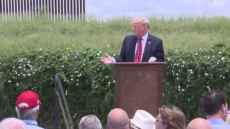 Trump uses trip to border to assail Biden on immigration
