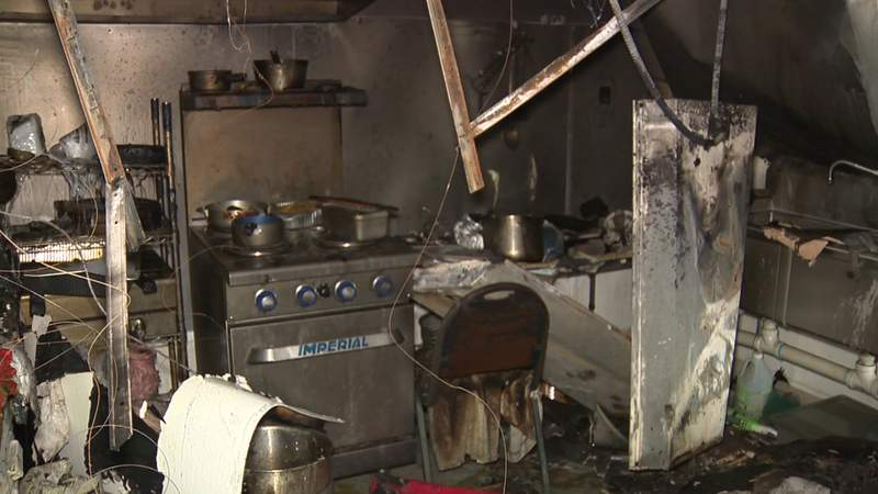 Owner's businesses burned down while he was at bible study