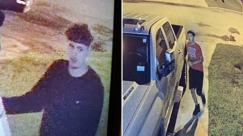 Authorities in Atascosa County are searching for two people who are suspected in a string of car burglaries on Saturday, July 10, 2021, in Pleasanton.