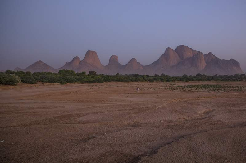 A general view of Kassala Mountains near the border with Eritrea, eastern Sudan, Nov. 20, 2020. Ethiopia's deadly conflict with its northern Tigray region spilled over the border as several thousand people fled into Sudan, along with soldiers seeking protection, while the Tigray regional leader accused Eritrea of attacking at the request of Ethiopia's federal government. (AP Photo/Nariman El-Mofty)