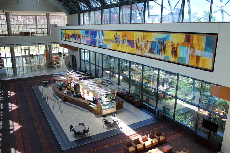 West lobby of the Henry B. González Convention Center.