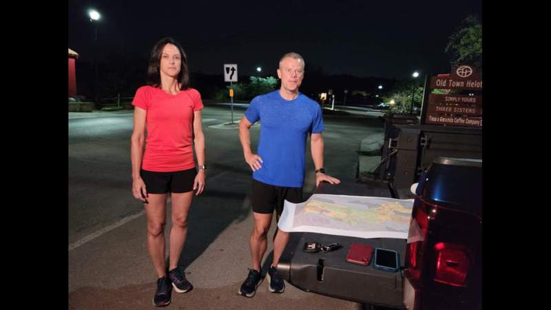 Pair completes unusual challenge of running along every street in Helotes