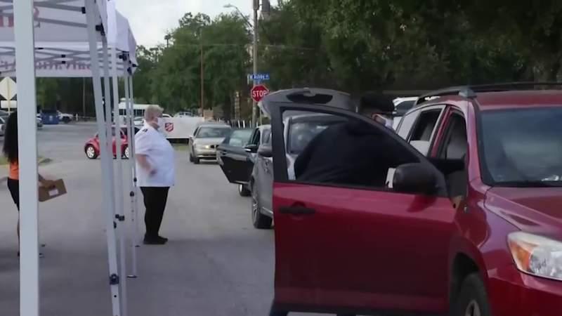 Salvation Army hosts drive-thru food distribution event