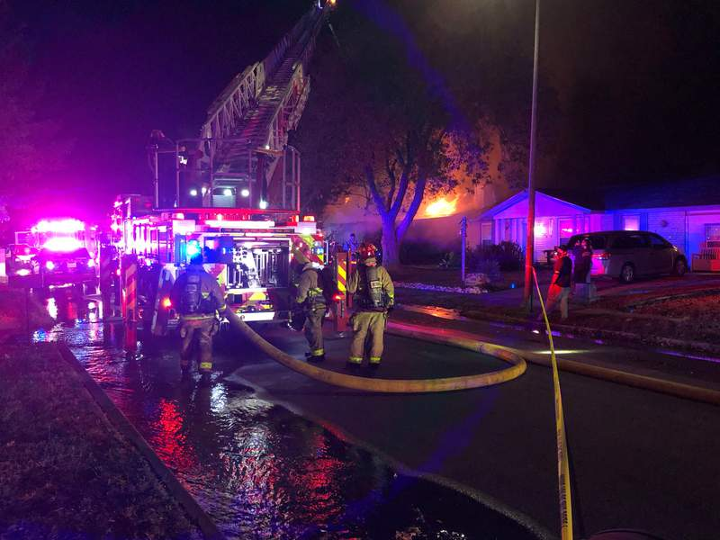 San Antonio firefighters are still working to put out the flames of a house fire on the Southwest Side.