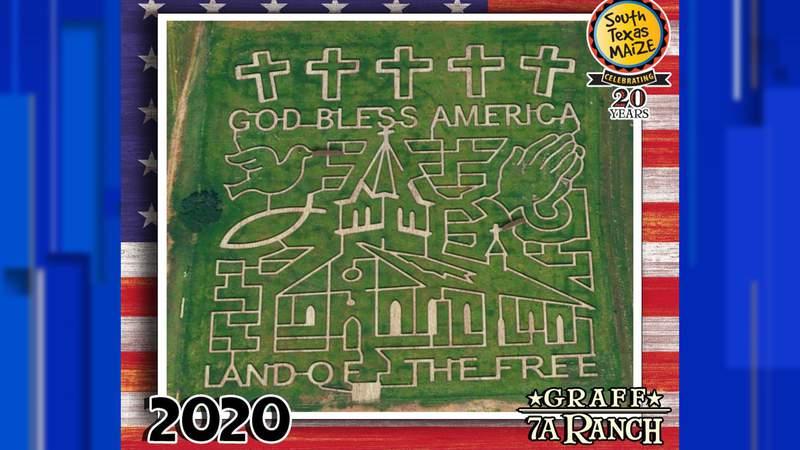 Corn maze at Graff 7A Ranch.