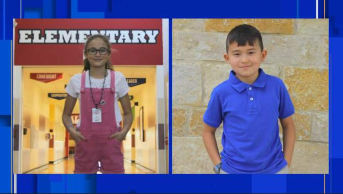 Fifth-grade student Lyla Harrington from Oak Creek Elementary was this year's Comal Shake champion. Third-grade student Ethan Jaramillo from Indian Springs Elementary competed in the final round.