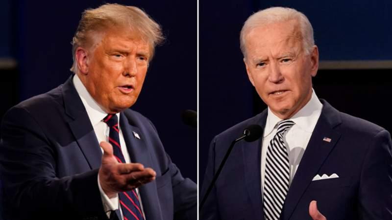 File images of President Donald Trump and Joe Biden.