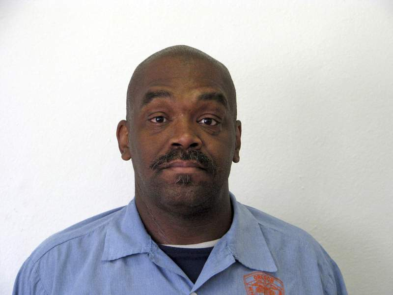 This undated file photo provided by the Oregon Department of Corrections shows death row inmate Jesse Johnson. Oregon's court of appeals on Wednesday, Oct. 6, 2021, reversed Johnson's murder conviction, saying his attorney at trial failed to interview a witness whose testimony could have changed the course of the trial. (Oregon Department of Corrections via AP, File)