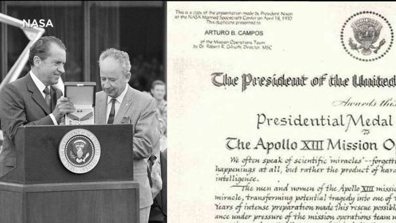 Family of Arturo B. Campos reacts to results of NASA moonikin naming contest.