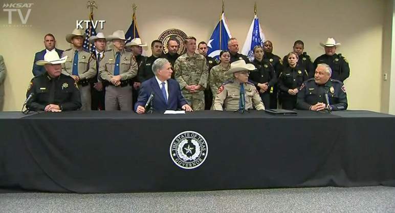 Gov. Greg Abbott holds a press conference in Fort Worth to address a rise in fentanyl seizures in Texas.