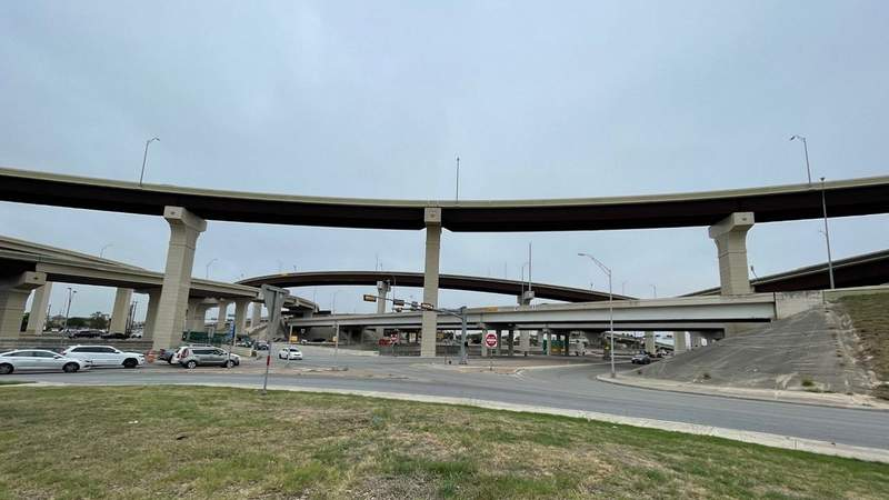 Someone fired nine to 10 shots from the flyover at Highway 281 and Loop 1604 Thursday morning, SAPD officials said.