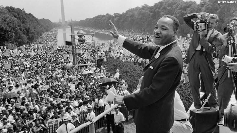 Martin Luther King, Jr. at the March on Washington in 1963