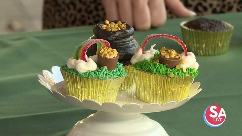 Tutorial: Cute cupcakes for St. Patrick's Day | SA Live | KSAT 12