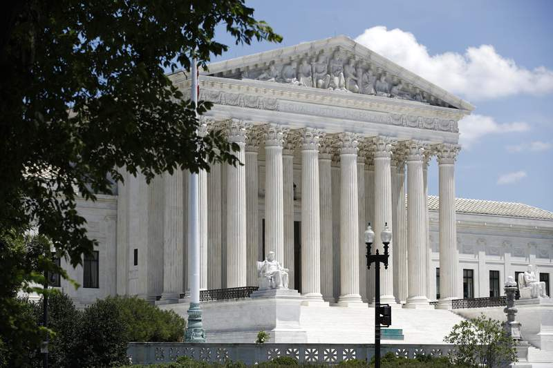 In this June 29, 2020 file photo, the Supreme Court is seen on Capitol Hill in Washington. (AP Photo/Patrick Semansky)
