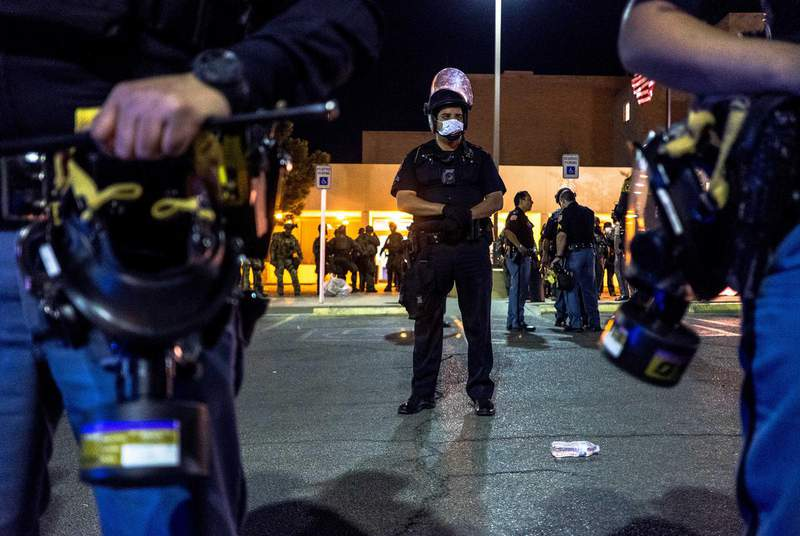 During a contentious campaign season, Texas police are gearing up for possible unrest on election night. (Credit: Joel Angel Juarez for The Texas Tribune)