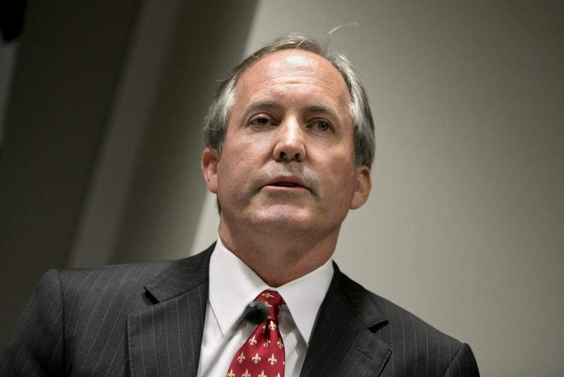 Texas Attorney General Ken Paxton during a press conference on Jan. 12, 2017. (Credit: Marjorie Kamys Cotera for The Texas Tribune)