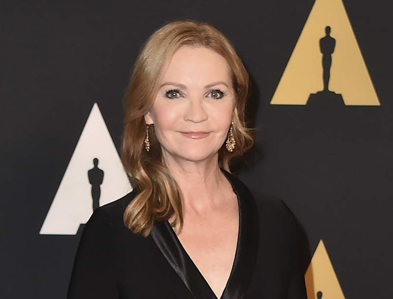 FILE - Joan Allen arrives at the Governors Awards at the Dolby Ballroom on Nov. 14, 2015, in Los Angeles.Allen will narrate the audiobook  for State of Terror, the political thriller co-written by Hillary Clinton and Louise Penny, releasing Oct. 12.  (Photo by Jordan Strauss/Invision/AP, File)