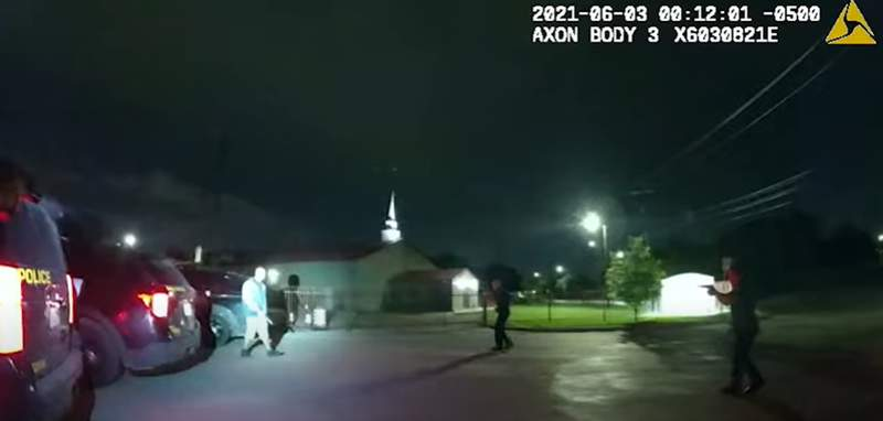 The San Antonio Police Department released body-cam footage of an incident that left an 18-year-old man fatally shot by three officers near a Family Dollar store after he allegedly came at them with a knife.