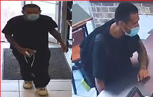San Antonio police and Crime Stoppers are searching for a man accused of robbing a downtown Papa John's on Wednesday, July 7, 2021.