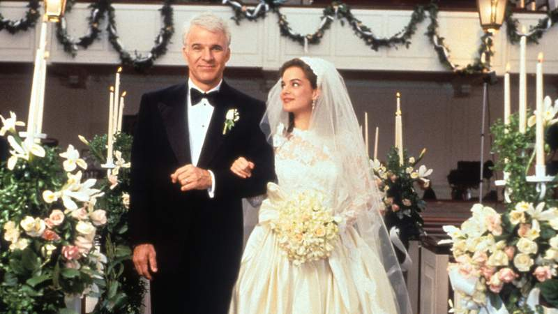 """Steve Martin and  Kimberly Williams-Paisley in """"Father of the Bride."""""""