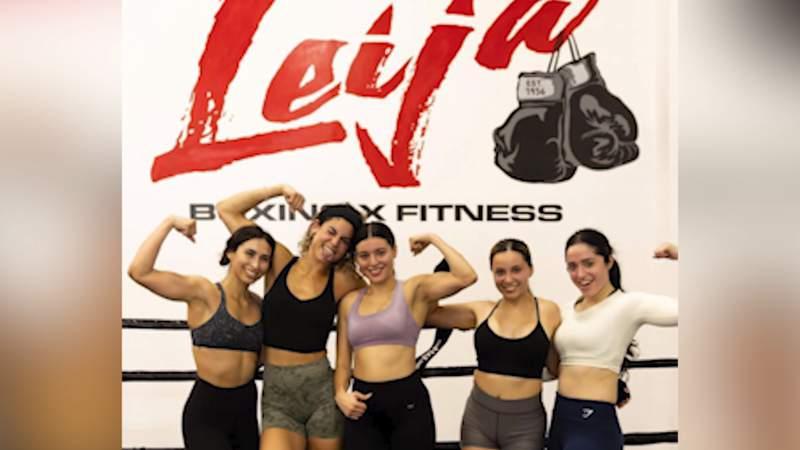 Women's boxing classes at Leija Boxing x Fitness.