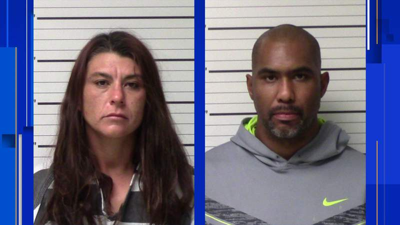 Michelle Irene Leija and Mario Lee Clark are charged in a Kerrville counterfeiting case, records show. Images: Kerr County Jail