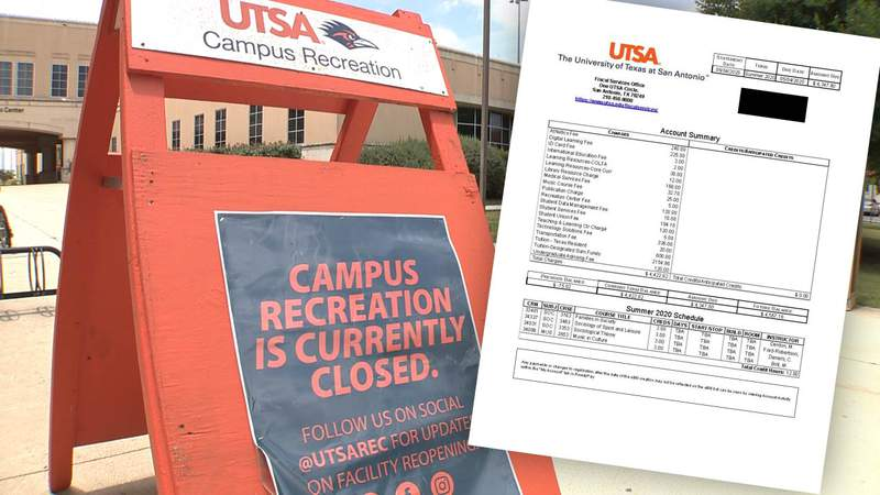 Students enrolled in summer courses at UTSA are being forced to pay mandatory fees, even as the courses move online.