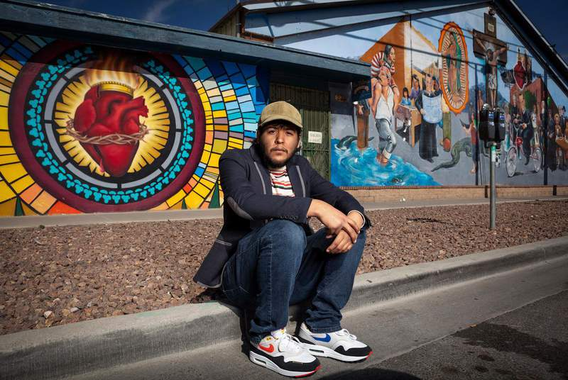 """""""For the past four years, the DACA program has been under attack, so it's been a lot of stress and trauma for me. ... But I'm still hopeful,"""" says Juan Paul Flores Vazquez, who lives in El Paso. (Credit: Christ Chavez for The Texas Tribune)"""
