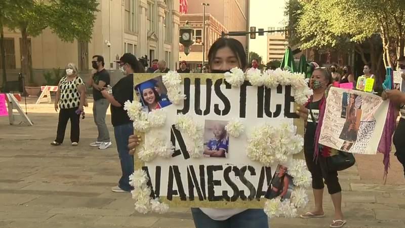 FILE - Vigil for Vanessa Guillen held in downtown San Antonio