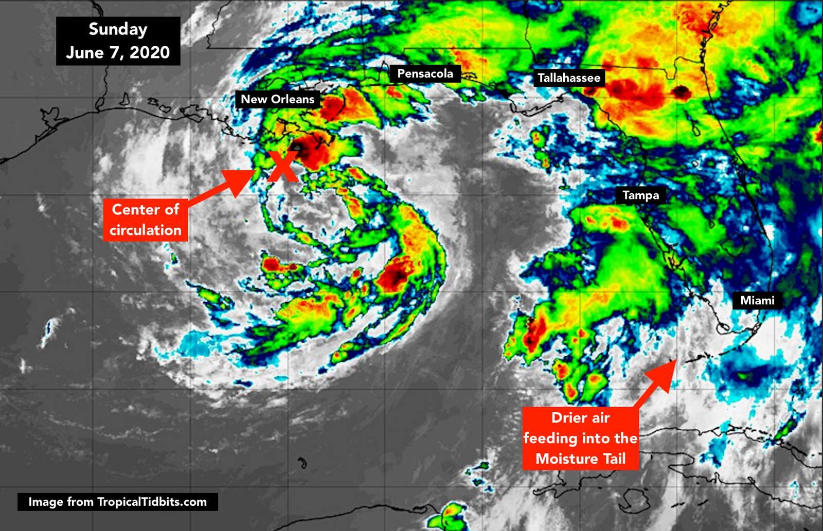 National Hurricane Center Says Tropical Storm Cristobal Has Made Landfall On Southeast Louisiana Coast