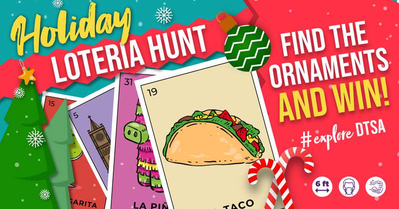 Travis Park is sponsoring a free holiday loteria scavenger hunt in December.