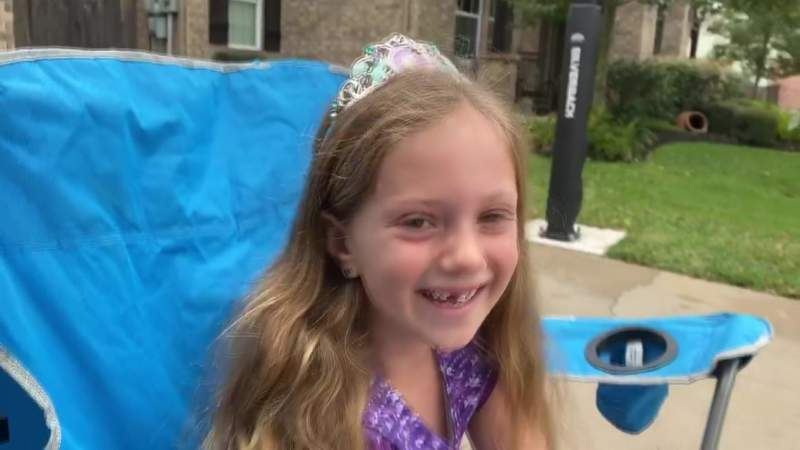 Community Surprises 7-Year-Old Girl with Birthday Parade
