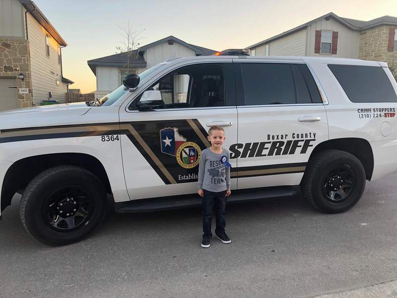 Kyler Thompson received a birthday surprise from the Bexar County Sheriff's Office. (Credit: BCSO)