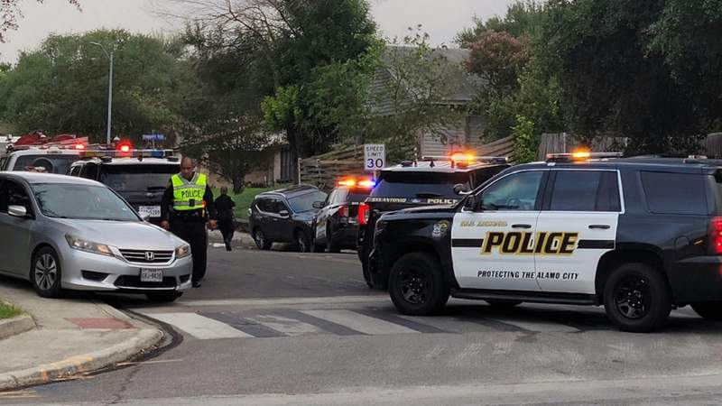 SAPD investigates after two pedestrians were hit by a car in the 10200 block of Dugas on Sept. 3, 2021.