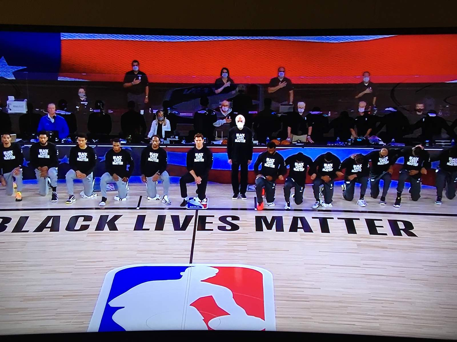 Spurs Players Kneel Coach Popovich Stands For National Anthem