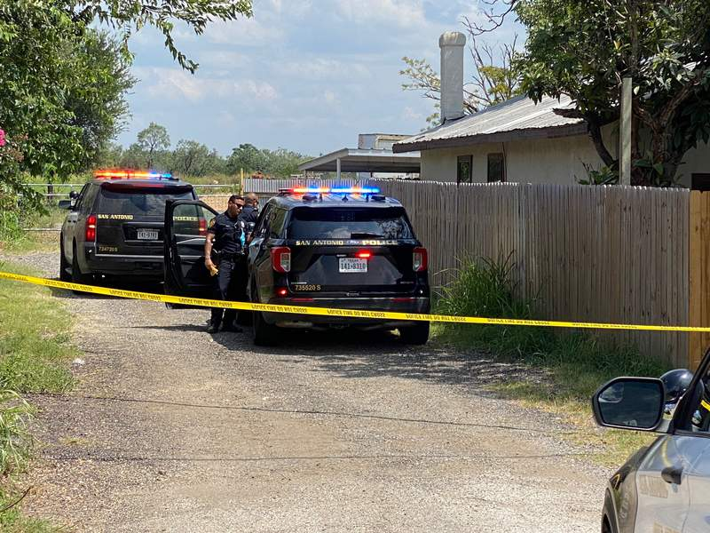 San Antonio police investigate a shooting in the 13800 block of Somerset Road.
